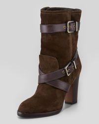 Pour La Victoire - Brown Roslin Bucklewrap Suede Boot - Lyst