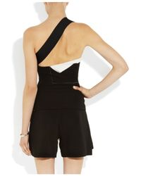 Roland Mouret - Black Eveve Stretch-Crepe One-Shoulder Top - Lyst