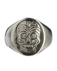 G-Star RAW - Metallic Simon Carter Skull Ring for Men - Lyst