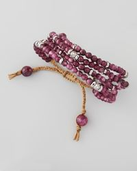 Tai | Purple Multistrand Beaded Bracelet | Lyst