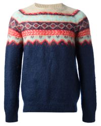 Carven | Blue Carven Mauntain Sweater for Men | Lyst