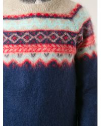 Carven - Blue Carven Mauntain Sweater for Men - Lyst