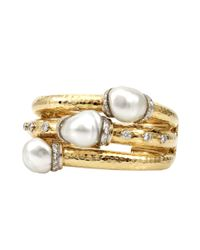 David Webb | Metallic South Sea Baroque Pearl Cuff | Lyst