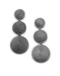 David Yurman | Metallic Sterling Silver Coil Drop Earrings | Lyst