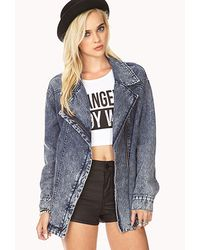 Forever 21 | Blue Modernist Denim Jacket You've Been Added To The Waitlist | Lyst