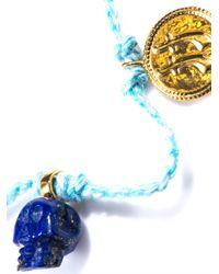 Jade Jagger - Blue Lapis Skull Coin Friendship Bracelet - Lyst