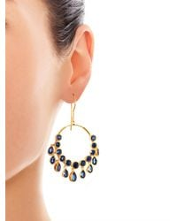 Jade Jagger - Metallic Kyanite Gold Plated Gypsy Earrings - Lyst