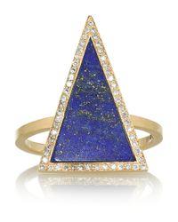 Jennifer Meyer - Blue 18karat Gold Lapis Lazuli and Diamond Ring - Lyst