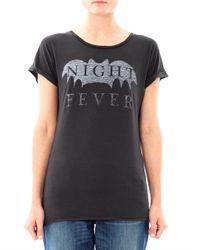 Zoe Karssen | Black Night Fever Print T-Shirt | Lyst