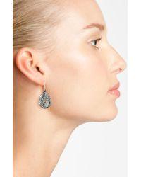 Alexis Bittar | Metallic 'miss Havisham' Crystal Encrusted Teardrop Earrings - Gunmetal | Lyst