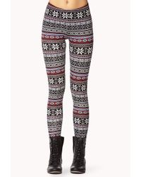 Forever 21 - Multicolor Geo Tribal Leggings - Lyst