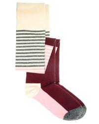 Happy Socks | Pink Over The Knee Stripe Socks | Lyst