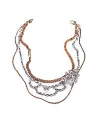 Lulu Frost | Metallic Nova Messenger Necklace | Lyst