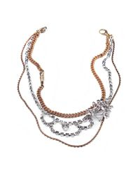 Lulu Frost - Metallic Nova Messenger Necklace - Lyst