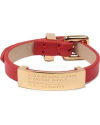 Marc By Marc Jacobs - Red Marc By Marc Jacobs Standard Supply ID Bracelet - Lyst