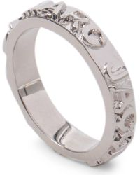 Marc By Marc Jacobs - Metallic Marc By Marc Jacobs Letter Press Ring - Lyst