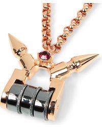 Mawi - Metallic Mawi Spiked Padlock Pendant - Lyst
