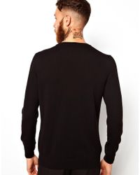 PS by Paul Smith - Black Ps Paul Smith Jumper with Cable Panel for Men - Lyst
