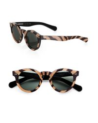 Ralph Lauren | Multicolor Animalprint Round Sunglasses | Lyst