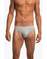 Calvin Klein | Gray Hip Briefs for Men | Lyst