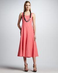 Eileen Fisher - Red Handkerchief Long Cinchable Linen Dress Petite - Lyst