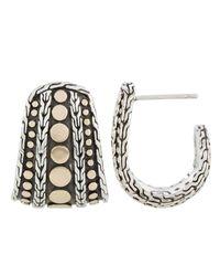 John Hardy - Metallic Nuansa Hoop Earrings - Lyst