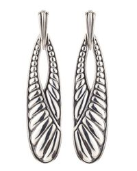 Lagos - Metallic Chichi Long Drop Earrings - Lyst