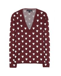 Burberry Prorsum | Purple Silkblend Sweater | Lyst