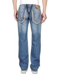 Frankie Morello - Blue Denim Pants for Men - Lyst