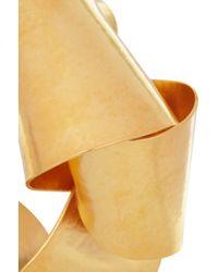 Herve Van Der Straeten - Metallic Hammered Gold Plated Cuff - Lyst