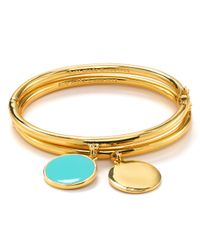 kate spade new york - Metallic Partners in Crime Charm Bangle - Lyst