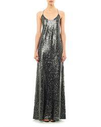 Marc Jacobs - Green Sequin Embellished Cross Back Dress - Lyst