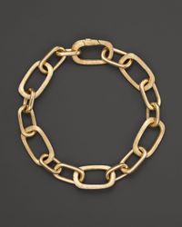 Marco Bicego - Yellow 18k Gold Murano Link Hand Engraved Bracelet - Lyst
