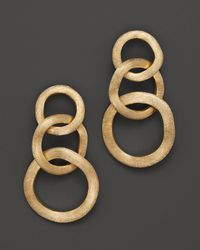 Marco Bicego | 18k Yellow Gold Jaipur Three Link Earrings | Lyst