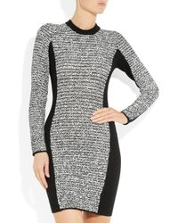 Alexander Wang - Gray Wool Blend and Rubberized Tweed Mini Dress - Lyst