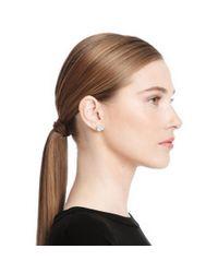 COACH - Purple Crystal Stud Earrings - Lyst