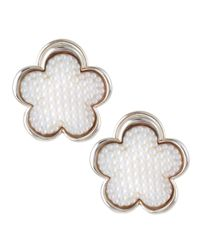 Lagos | White Mother of Pearl Beaded Flower Earrings 18mm | Lyst