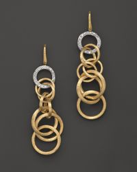 Marco Bicego | Metallic Diamond Jaipur Link Drop Earrings | Lyst