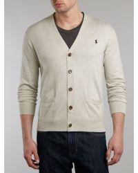Polo Ralph Lauren - Gray Pima Cotton Classic Cardigan for Men - Lyst