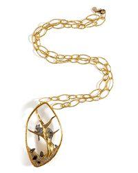 Alexis Bittar - Metallic Reliquary Pendant Siyabona Large Chain Necklace - Lyst