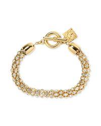 Anne Klein | Metallic Multi-row Flex Bracelet | Lyst