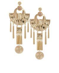 ASOS | Metallic Modern Aztec Earrings | Lyst