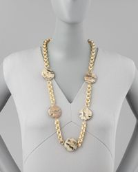 Devon Leigh | Metallic Animal-spotted Coin Necklace | Lyst