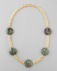 Devon Leigh | Metallic Turpan Jade Coin Necklace | Lyst