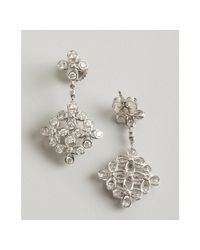 Kwiat - White Gold and Diamond Violet Drop Earrings - Lyst