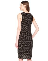 MICHAEL Michael Kors - Black Studded Longsleeve Dress - Lyst