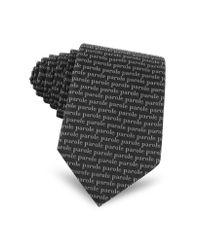 Moschino - Black 'parole' Printed Silk Tie for Men - Lyst