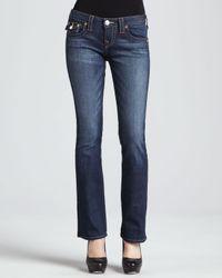 True Religion - Blue Becky Petite Bootcut Jeans Dusty Skies - Lyst
