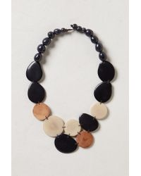 Anthropologie | Black Hammered Tagua Necklace | Lyst