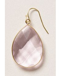 Anthropologie - Purple Gold Rung Earrings - Lyst